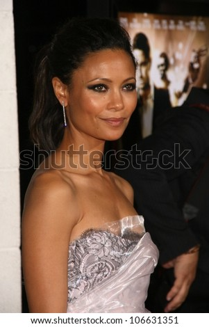 Thandie Newton  at the Los Angeles Premiere of 'Rocknrolla'. Pacific Cinerama Dome, Hollywood, CA. 10-06-08 - stock photo