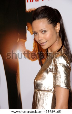 """THANDIE NEWTON at the world premiere of her new movie """"The Pursuit of Happyness"""" at the Mann Village Theatre, Westwood. December 7, 2006  Los Angeles, CA Picture: Paul Smith / Featureflash - stock photo"""