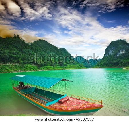 Thang Hen lake. Province Cao Bang. Vietnam