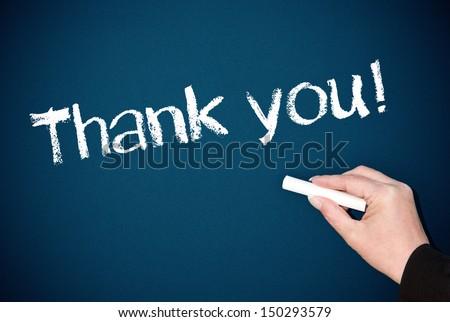 Thank you ! - stock photo