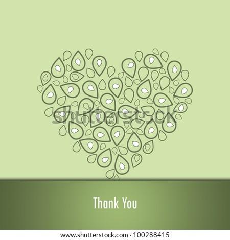Thank you card - stock photo