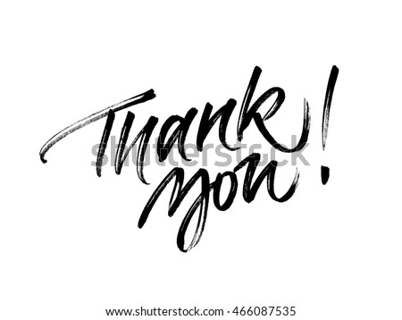 Thank You Calligraphy Stock Images Royalty Free Images