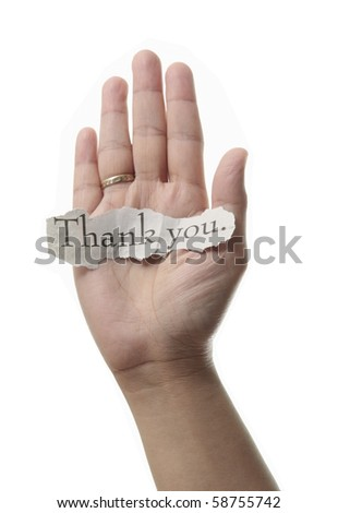 Thank you concept- isolated in white background - stock photo