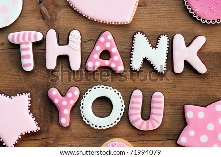 Thank you cookies - stock photo