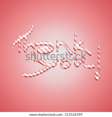 Thank You Hand lettering handmade calligraphy - stock photo