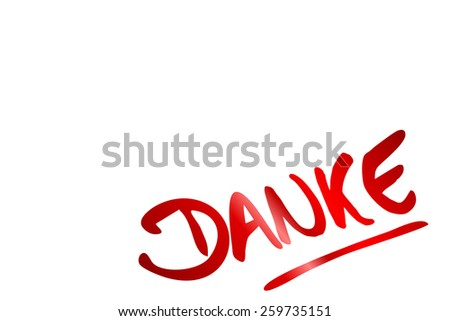 thank you in german language - stock photo