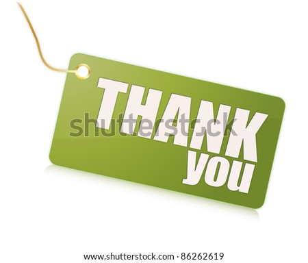 thank you label - stock photo