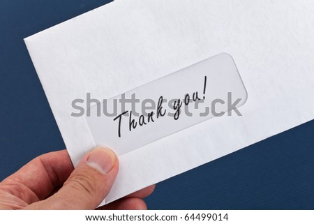 Thank You Mail close up shot - stock photo