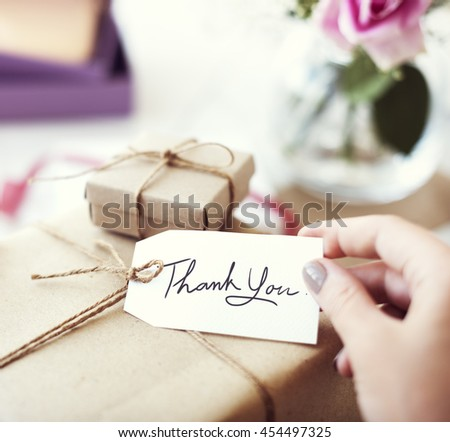 Thank you Message Vintage Present Package Concept