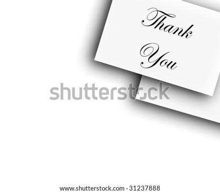 Thank You Notes Or Put Your Own Text - stock photo