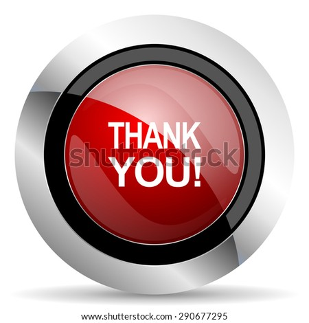 thank you red glossy web icon original modern design for web and mobile app on white background  - stock photo