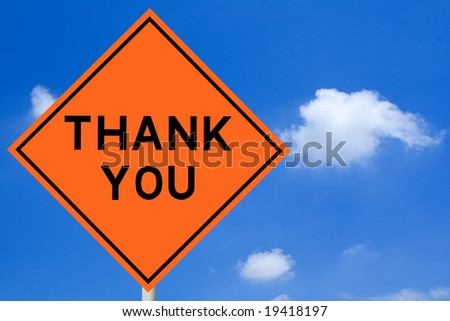 Thank You Road Sign - stock photo