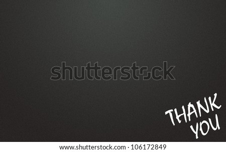 thank you symbol and blackboard background - stock photo