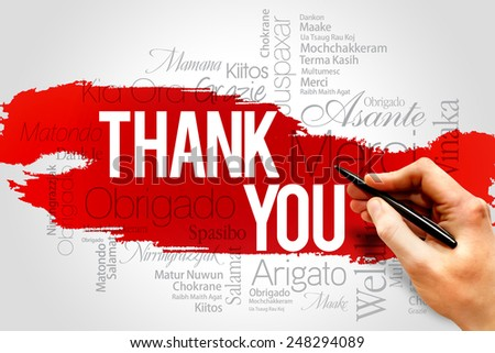 Thank You word cloud, business concept - stock photo