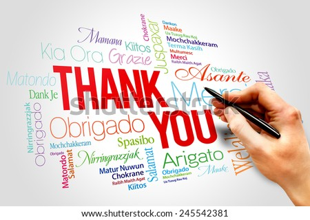 Thank You Words Cloud concept  - stock photo