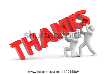 Thanks - stock photo