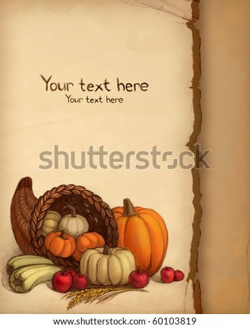 Thanksgiving card - stock photo