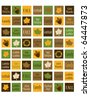 Thanksgiving Collection 1 inch Squares Background - stock photo
