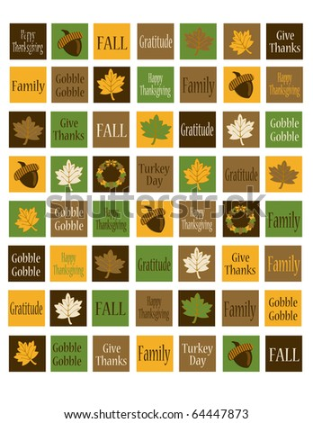 Thanksgiving Collection 1 inch Squares Background