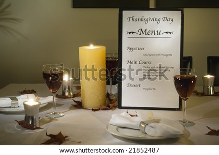 Thanksgiving day place setting