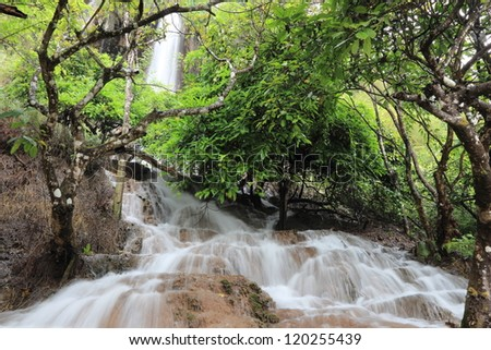 thararak waterfall, Tak - stock photo