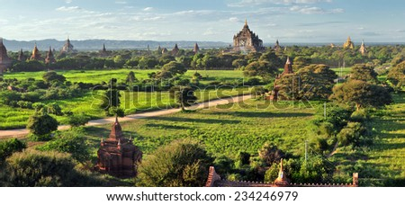 That Byin Nyu Temple and other temples in Bagan, Myanmar  - stock photo