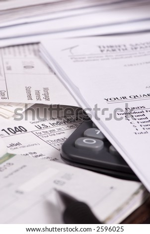 That dreaded time of year... tax time. - stock photo