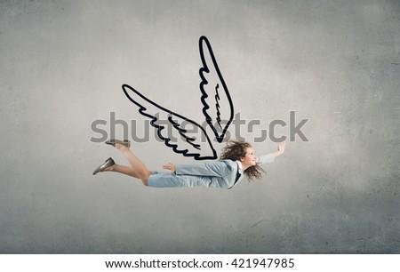 That feeling of freedom - stock photo