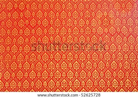that temple texture in thailand - stock photo
