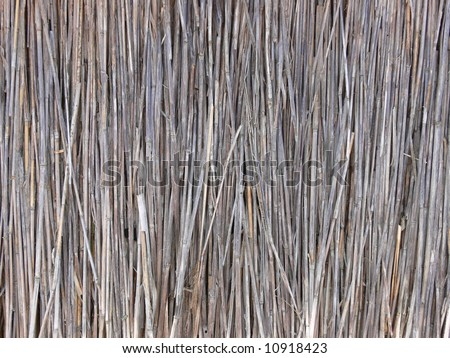 Thatch, old house roof - stock photo