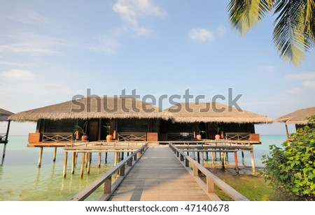 thatched house at maldives
