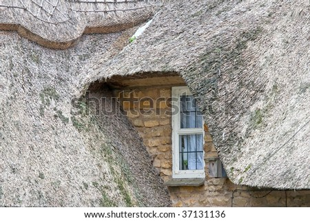 Thatched Roof House in Cotswolds England