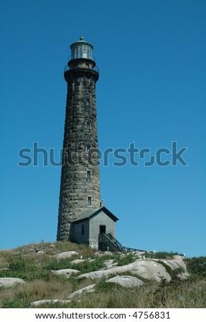 Thatcher's Island, Rockport, MA, North Tower - stock photo