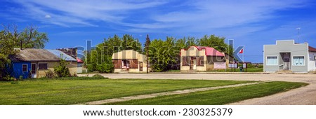 The abandoned buildings on main street of Krydor, Saskatchewan, Canada. - stock photo
