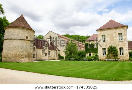 The Abbey of Fontenay is a former Cistercian abbey located in the commune of Marmagne, near Montbard, in the departement of Cote-d'Or in France.  It was founded by Saint Bernard of Clairvaux in 1118.