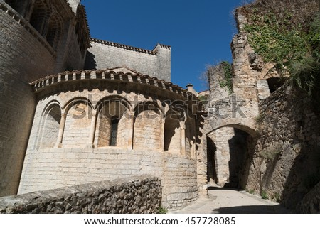 The abbey of Gellone is located in the town of Saint-Guilhem-le-Désert, which is UNESCO world heritage. It was founded in 804 by Guilhem of Orange, Duke of Aquitaine.
