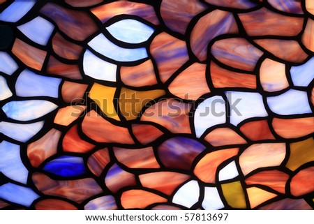 The abstract background consisting of multi-coloured glass fragments - stock photo