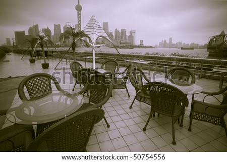the abstract background of the shanghai city of china. - stock photo