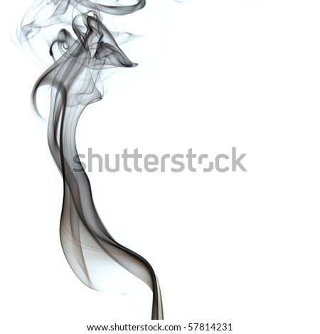 The abstract figure of the smoke on white background - stock photo