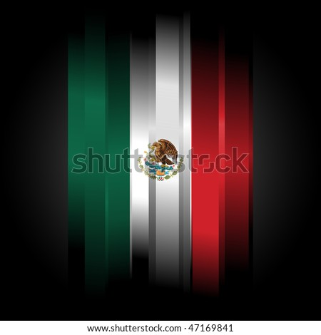 The Abstract Flag of Mexico on black background - stock photo