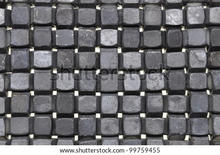 The abstract layout of chrome nuts - stock photo