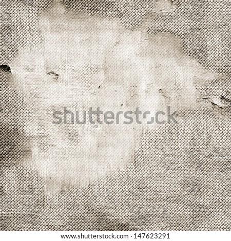 The abstract old damaged wood canvas texture background - stock photo