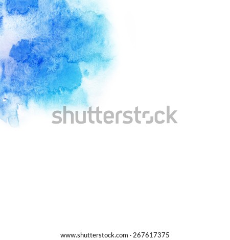 """The abstract picturesque background for your text drawn with a water color. Album """" Abstract Water Colour Backgrounds"""".Album """"Blue Picturesque Spots"""" - stock photo"""