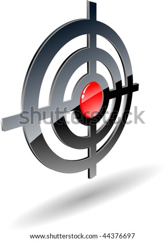 the abstract raster target (vector version in portfolio)