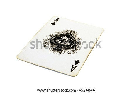 The Ace of Spades - stock photo