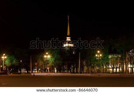 The Admiralty in St.Petersburg. Russia. - stock photo