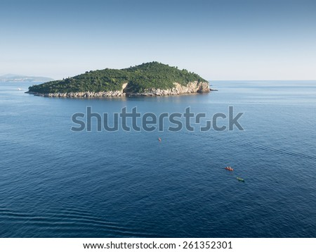 The Adriatic sea in the evening - stock photo