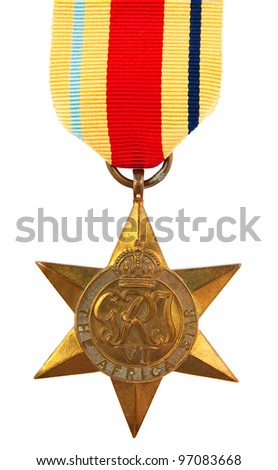 The Africa Star Second World War Medal - stock photo