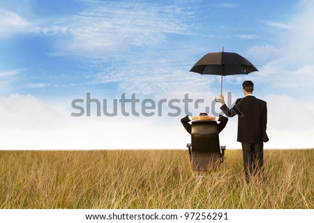 The agent in the field, giving you the best protection everywhere - stock photo