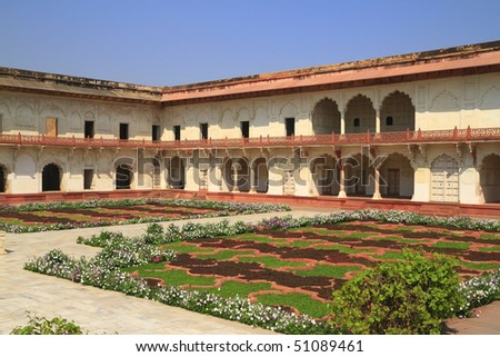 The Agra Fort is a UNESCO World Heritage site located in Agra, India